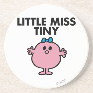 Little Miss Tiny | Black Lettering Drink Coaster