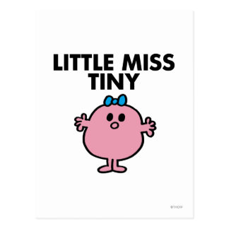Little Miss Tiny | Black Lettering Postcard