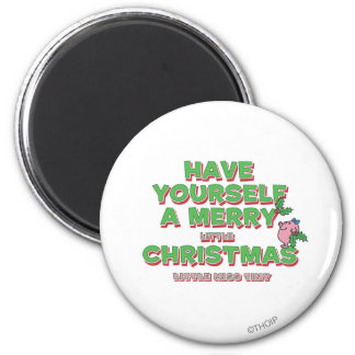 Little Miss Tiny Christmas 2 Inch Round Magnet