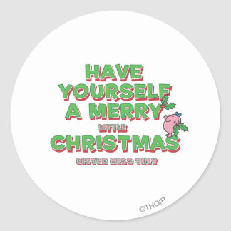 Little Miss Tiny Christmas Classic Round Sticker
