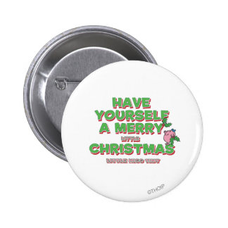 Little Miss Tiny Christmas Pinback Button