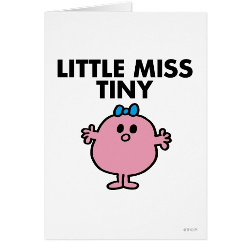 Little Miss Tiny Classic Card