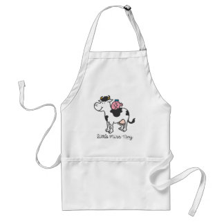Little Miss Tiny | Cow Riding Adult Apron