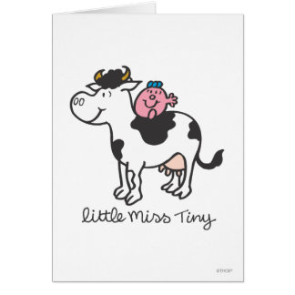 Little Miss Tiny | Cow Riding Card