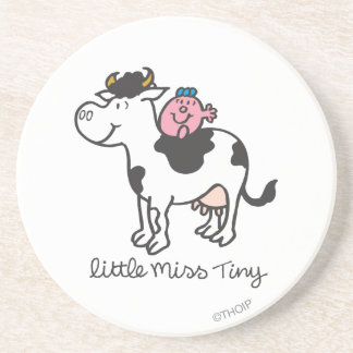 Little Miss Tiny | Cow Riding Drink Coaster