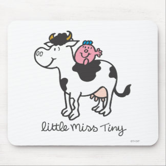 Little Miss Tiny   Cow Riding Mouse Pad