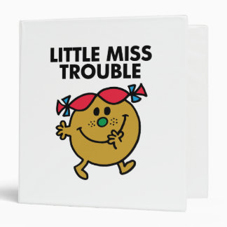 Little Miss Trouble | Black Lettering Binder