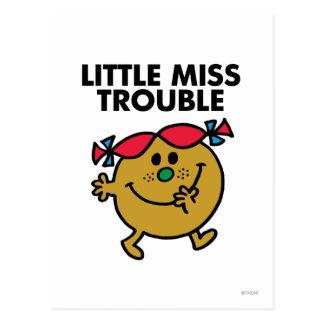 Little Miss Trouble | Black Lettering Postcard