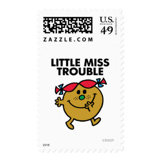 Little Miss Trouble | Black Lettering Stamp