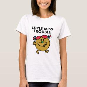 Little Miss Trouble | Black Lettering T-Shirt