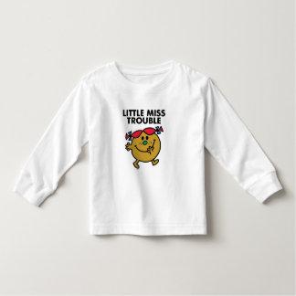 Little Miss Trouble | Black Lettering Toddler T-shirt