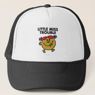 Little Miss Trouble   Black Lettering Trucker Hat