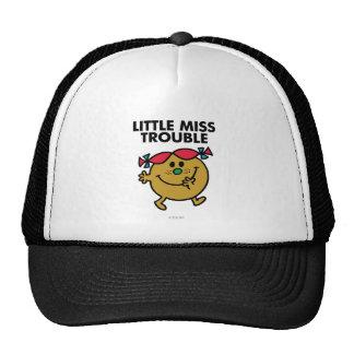 Little Miss Trouble | Black Lettering Trucker Hat