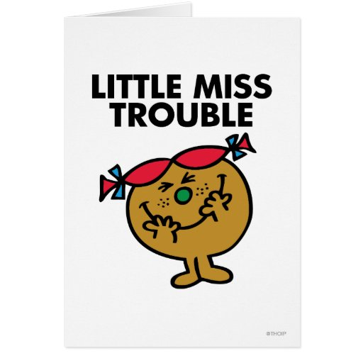 Little Miss Trouble Classic 1 Greeting Card