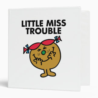 Little Miss Trouble | Laughing 3 Ring Binder