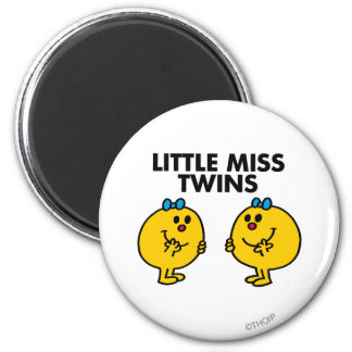 Little Miss Twins | Two Much Fun 2 Inch Round Magnet