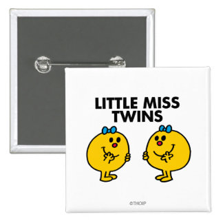 Little Miss Twins | Two Much Fun Button