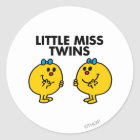 Little Miss Twins | Two Much Fun Classic Round Sticker