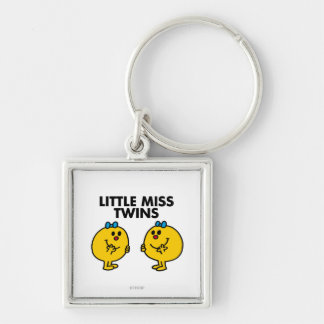 Little Miss Twins | Two Much Fun Silver-Colored Square Keychain