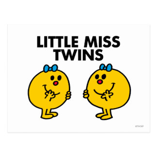 Little Miss Twins | Two Much Fun Postcard