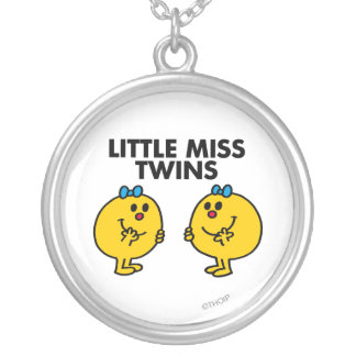 Little Miss Twins | Two Much Fun Round Pendant Necklace