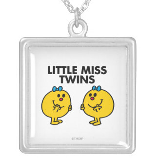 Little Miss Twins | Two Much Fun Square Pendant Necklace