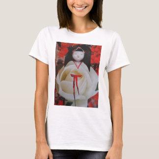 Little Miss White Rose T-Shirt