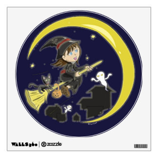 Little Miss Witch Wall Decal