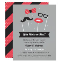 Little Mister or Miss Photo Props Baby Shower Card