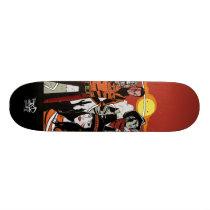 artsprojekt, little mocassin skate deck, jim, mahfood, food, one, 40oz, comics, clerks, grrl scouts, colt 45, stupid, page, filler, man, live art, live, art, z-trip, murs, felt, true, tales, underground, hip, hop, sarah, silverman, program, frenchpulp, mahf, earthworms, comic, books., jim mahfood, jim mahfood skateboards, food one skateboards, 40 oz comics skateboards, food one, 40 oz comics, Skateboard com design gráfico personalizado