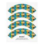 Little Monkey 1st Birthday Boy Cupcake Wrappers Letterhead