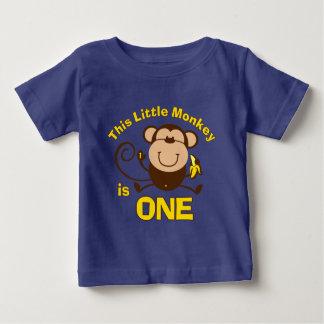 Little Monkey 1st Birthday Boy Custom Baby T-Shirt
