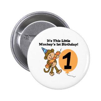 Little Monkey 1st Birthday Button