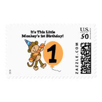 Little Monkey 1st Birthday Tshirts and Gifts Postage
