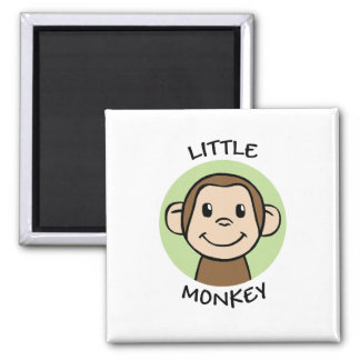 Little Monkey 2 Inch Square Magnet