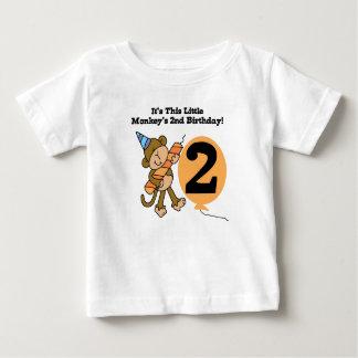 Little Monkey 2nd Birthday Baby T-Shirt