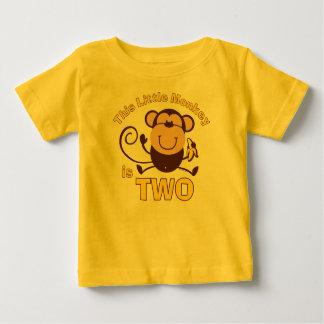 Little Monkey 2nd Birthday Boy Infant Creeper