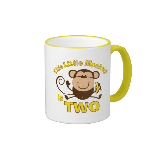 Little Monkey 2nd Birthday Boy Mug
