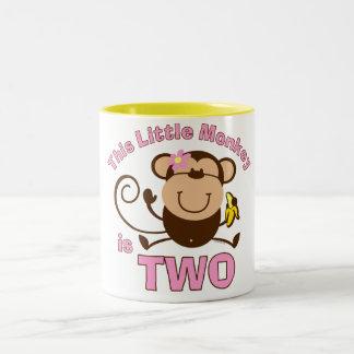 Little Monkey 2nd Birthday Girl Mug