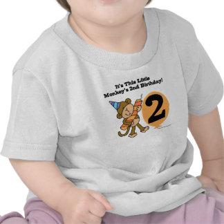 Little Monkey 2nd Birthday T Shirts