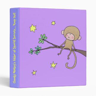 Little Monkey 3 Ring Binder