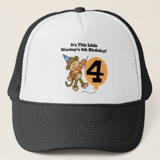 Little Monkey 4th Birthday Tshirts and Gifts Trucker Hat