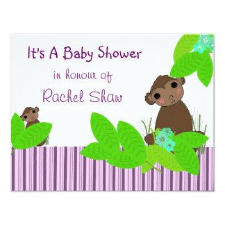 "Little Monkey Baby Shower Invitation 4.25"" X 5.5"" Invitation Card"