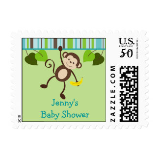 Little Monkey Baby Shower Postage Stamps