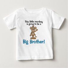 Little Monkey Big Brother Baby T-Shirt