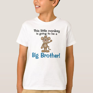 Little Monkey Big Brother T-Shirt