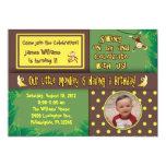 "Little Monkey Birthday Party Invitation 5"" X 7"" Invitation Card"