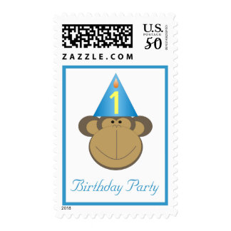 Little Monkey Birthday Stamps