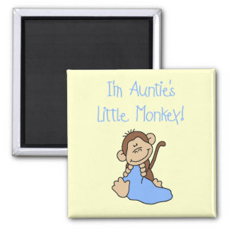 Little Monkey Blue T-shirts y regalos de tía Imanes Para Frigoríficos