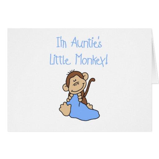 Little Monkey Blue T-shirts y regalos de tía Tarjeton